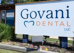 Sign outside GOvani Dental