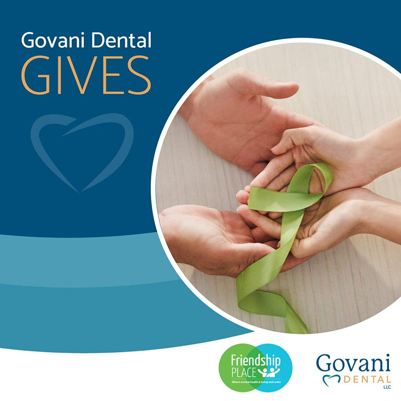 Govani Gives Friendship Place Campaign graphic.